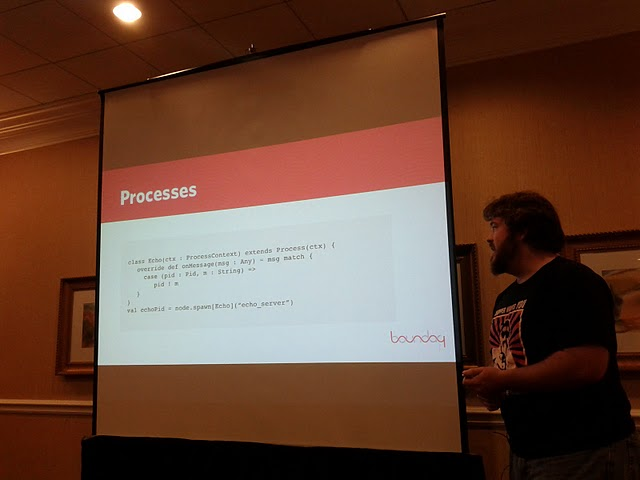 Cliff Moon talking about processes in scalang